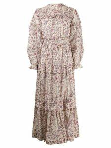 Isabel Marant Étoile floral print smock dress - NEUTRALS