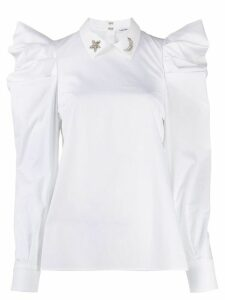 P.A.R.O.S.H. embellished-collar blouse - White