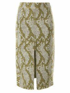 CAMILLA AND MARC Alissa snakeskin print skirt - NEUTRALS