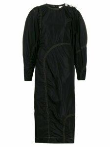GANNI stitch detail dress - Black