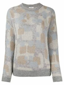 Peserico abstract-print jumper - Grey