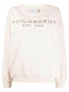 Philosophy Di Lorenzo Serafini branded sweatshirt - Pink