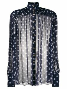 Zimmermann polka dot relaxed blouse - PURPLE