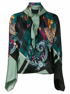 Salvatore Ferragamo silk Susanne wrap blouse - Green