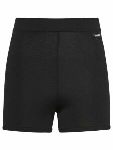 Miu Miu high-rise cycling style shorts - Black