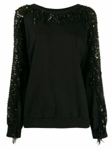 Twin-Set sequin sleeve jumper - Black