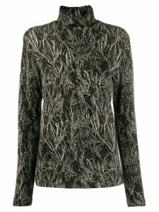 Stephan Schneider pine pattern knitted top - Black