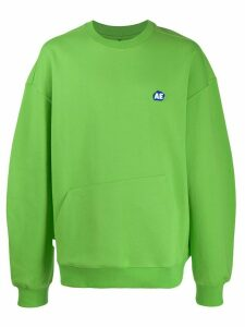 Ader Error oversized Stone logo sweatshirt - Green