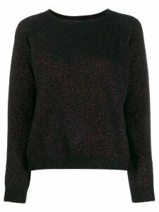 Twin-Set round neck jumper - Black