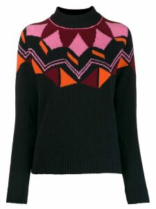 PS Paul Smith geometric knit jumper - Blue