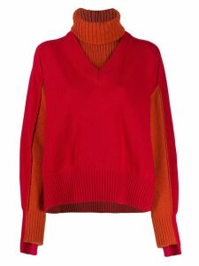 Cédric Charlier layered knit jumper