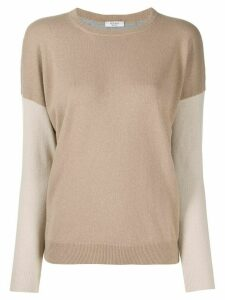 Peserico contrast knit jumper - NEUTRALS