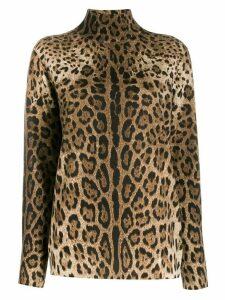 Dolce & Gabbana leopard print jumper - Brown