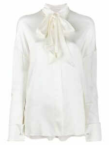 Alexandre Vauthier pussy bow blouse - White
