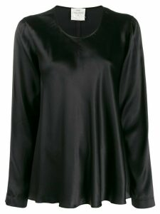 Forte Forte scoop neck satin blouse - Black
