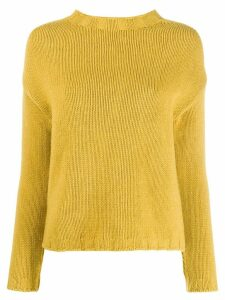 Aragona cashmere long-sleeve sweater - Yellow