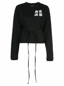 Ambush corseted jumper - Black