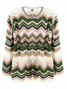M Missoni zig-zag knit jumper - Green