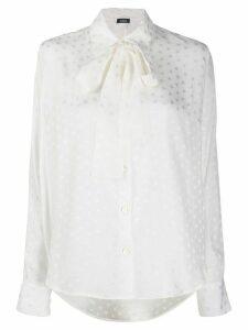 P.A.R.O.S.H. star-print pussy bow shirt - White