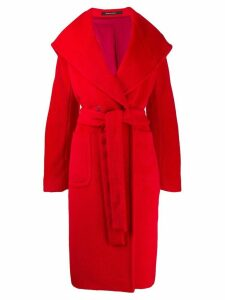 Tagliatore belted double-breasted coat - Red
