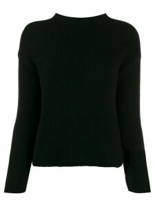 Aragona long-sleeve fitted sweater - Black