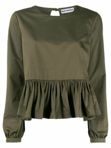 Molly Goddard ruffled hem blouse - Green