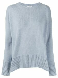 Peserico side slit knitted jumper - Blue
