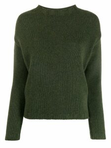 Aragona long-sleeve fitted sweater - Grey