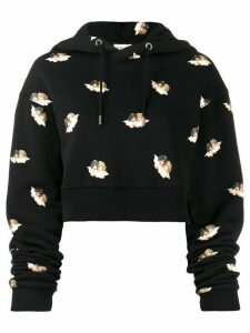 Fiorucci All Over Angels cropped hoodie - Black