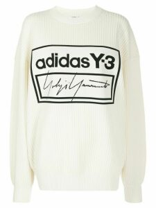 Y-3 Techknit crew jumper - White