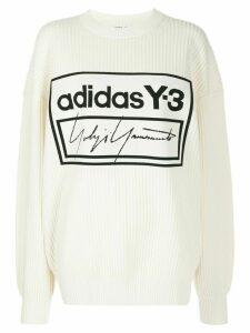 Y-3 Techknit crew sweater - White