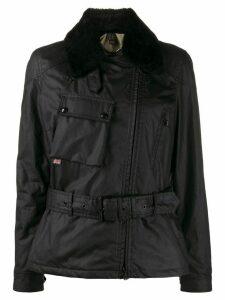 Belstaff Sammy Miller belted biker jacket - Black
