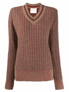 Stephan Schneider Strophe striped knit jumper - Brown