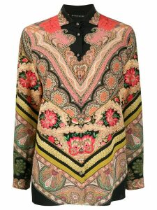 Etro mixed bohemian print shirt - Black