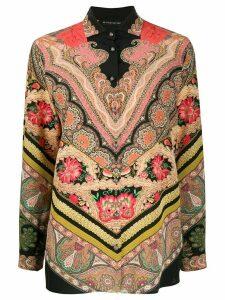 Etro mixed bohemian print shirt - Black