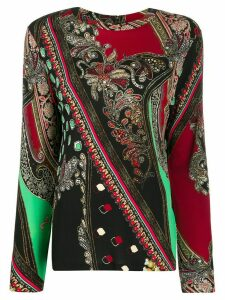 Etro paisley long-sleeve top - Black