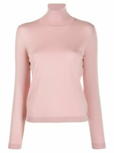 Red Valentino tulle panel roll neck jumper - ROSA
