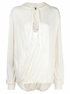 Ann Demeulemeester draped knit top - White