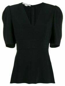 Stella McCartney V-neck puff-sleeve blouse - Black