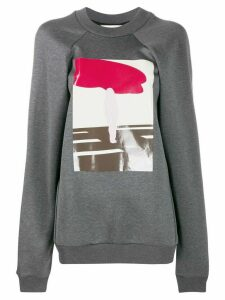 Plan C abstract print sweatshirt - Grey