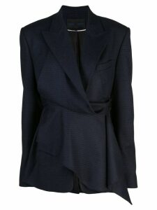 Proenza Schouler Draped Plaid Blazer - Blue