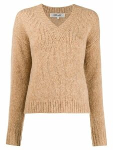 DVF Diane von Furstenberg knitted V-neck jumper - Brown