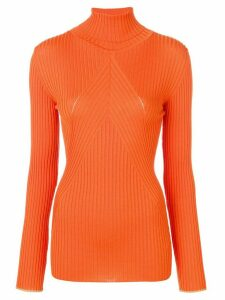 Victoria Beckham ribbed polo neck jumper - Orange