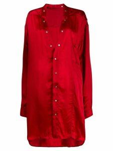 Rick Owens tunic shirt - Red