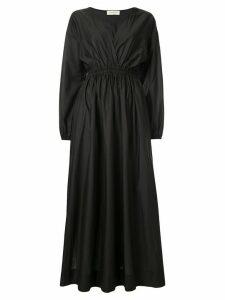 Matteau gathered plunge dress - Black