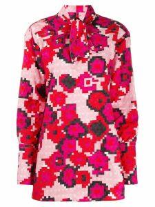 Marni pixel floral print blouse - PINK