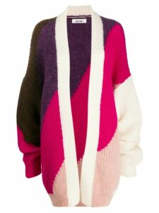 Circus Hotel wide stripes cardigan - PURPLE