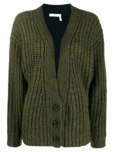 See By Chloé colour block cardigan - Green