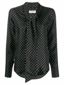 Alberto Biani polka-dot print blouse - Black