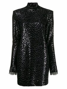 Philosophy Di Lorenzo Serafini leopard print sequin embellished dress